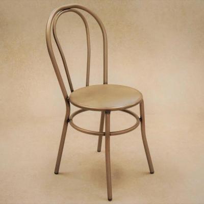 Silla Cabaret hierro barnizado con asiento plancha