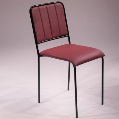 Silla Slim estructura pintado negro, asiento y respaldo tapizado kenya vintage