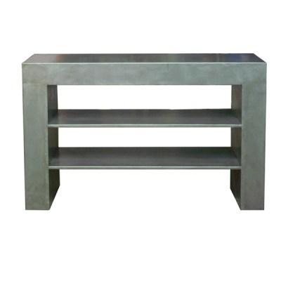 Consola Gigante estantes de 120x40 en hierro pulido