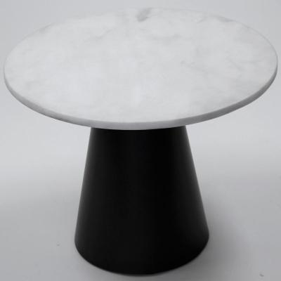 Mesa Conat H-75 estructura en gris manganeso con marmol blanco D56