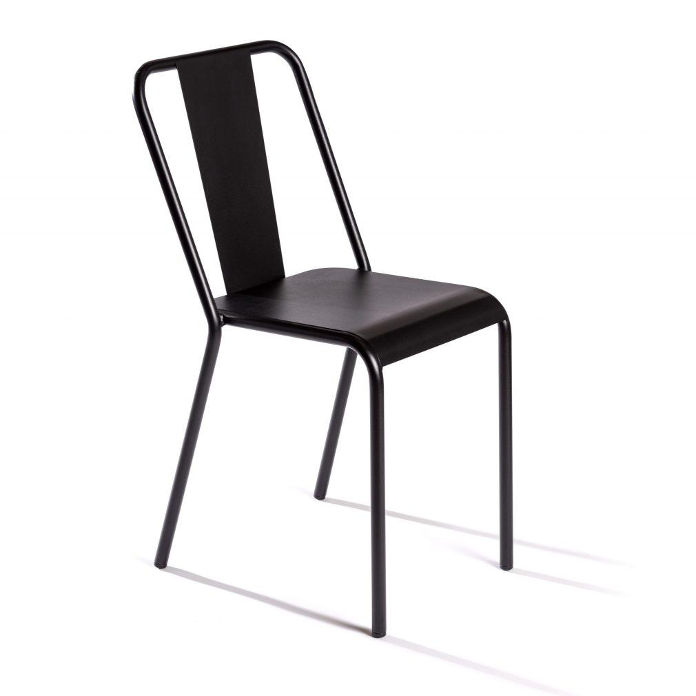 Silla Rochelle en color negro texturado
