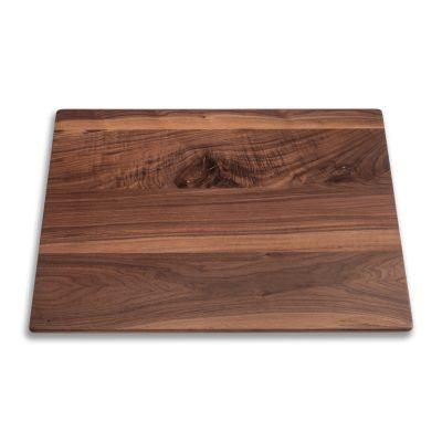 tablero de mesa en madera de nogal con nudo