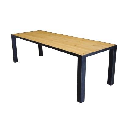 Mesa de comedor con pino insertado neo 8
