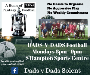 DADS v DADS Football Southampton Mondays