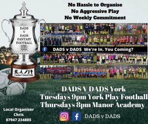 Play Football York Tues and Thurs