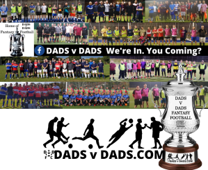 Little Kickers football DADS v DADS 2