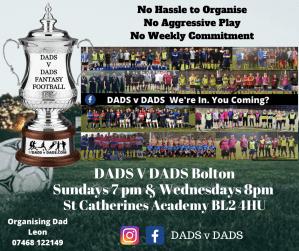 Play Football Bolton Sunday and Wednesday