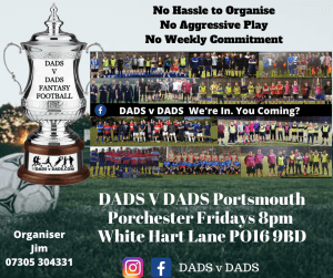Play Football Portsmouth Fridays 8pm