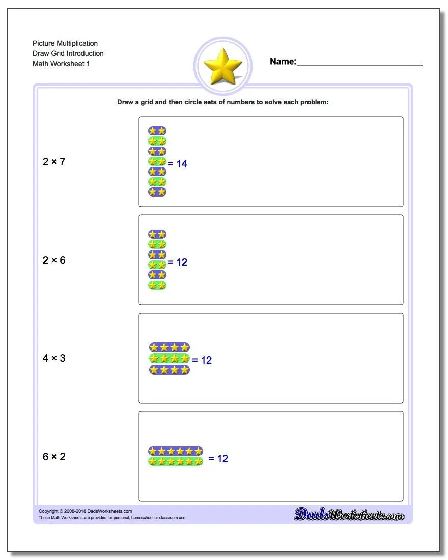 Picture Math Multiplication