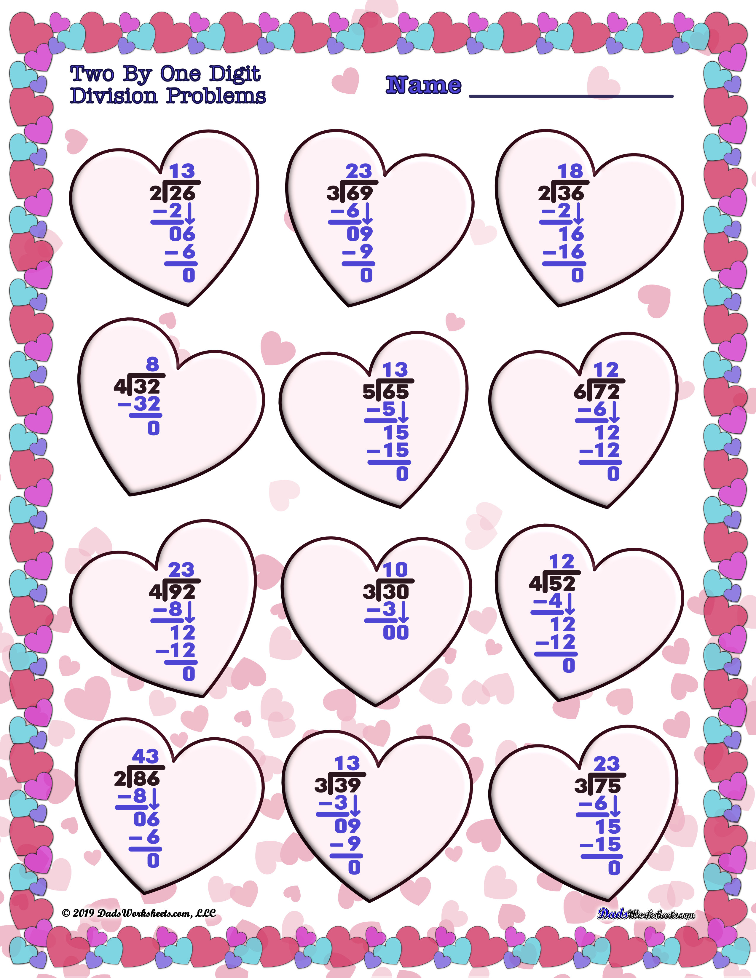 Valentine S Day Worksheets To Make Math Fun