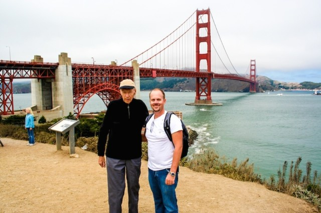My grandfather and I, Golden Gate Bridge