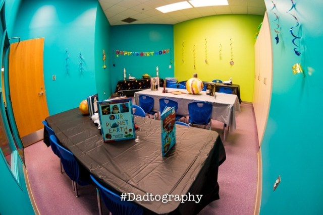 Orlando Science Center Birthday Party - Party Room 1 - Space Theme