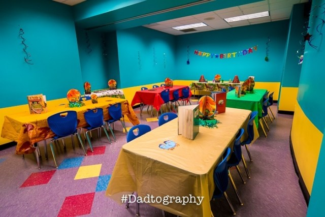 Orlando Science Center Birthday Party - Party Room 2 - Earth Science Theme