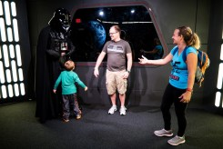 My 5 year old giving Darth Vader a hug.