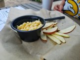 Toasted's Mac and Cheese - Jarlsberg, sharp Cheddar, Gruyere with apple slices