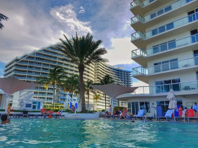 View From the Pool - Facing South - Hilton Ft. Lauderdale Beach Resort