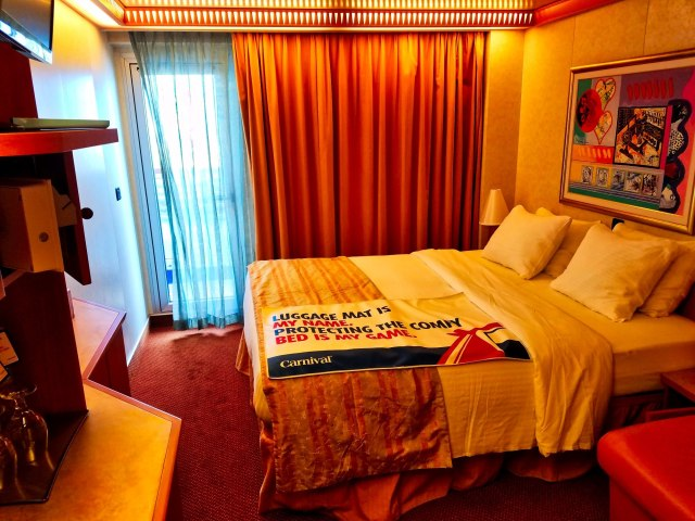 Carnival Liberty Balcony Stateroom - Looking In On Arrival