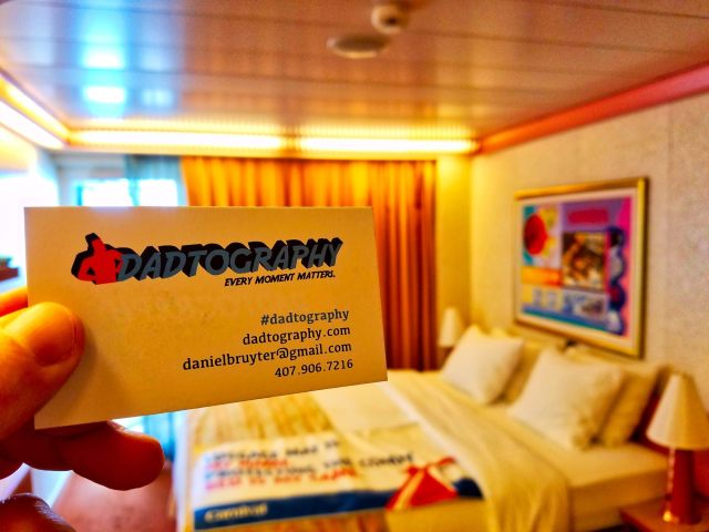 Carnival Liberty Balcony Stateroom - Dadtography Business Card