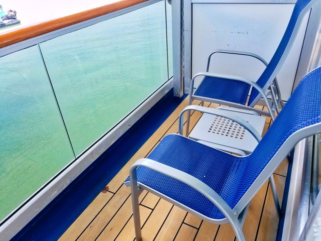 Carnival Liberty Balcony Stateroom - Balcony Chairs