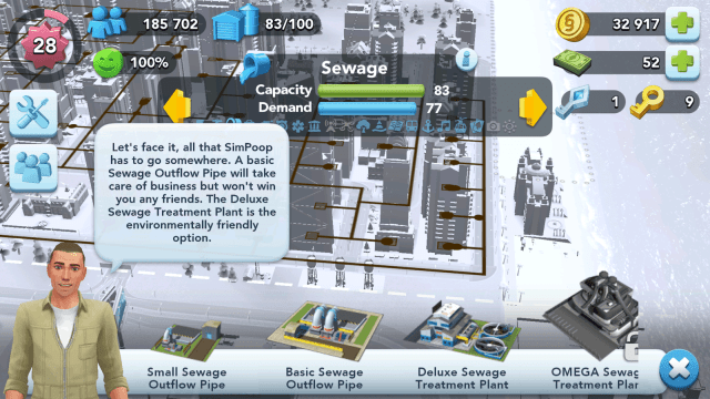 SimCity BuildIt Sewage Buildings