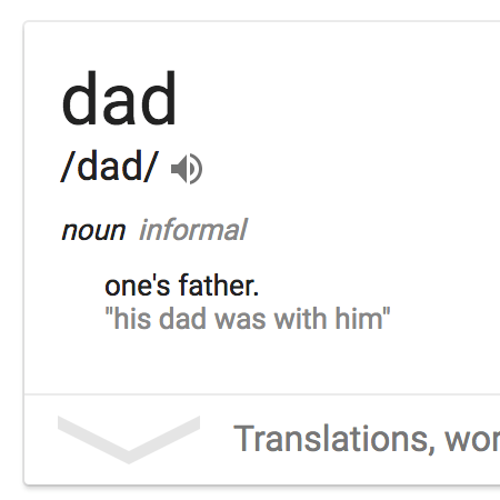 Google's Definition of Dad is Wrong