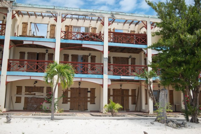 Abandoned Hotel Missing Roof - Hurricane Damage - Philipsburg St Maarten