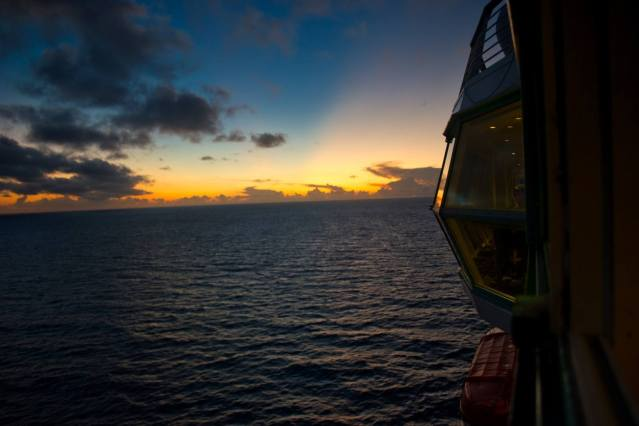 Royal Caribbean Majesty of the Seas - Sunset Ship View