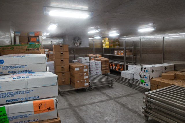 "Behind the Scenes Ship Tour - Cold storage area ""product of Australia"""