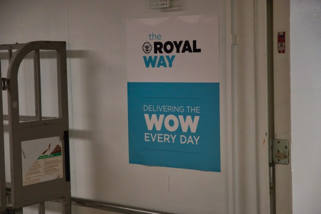 Behind the Scenes Ship Tour - The Royal Way Delivering Wow every day.