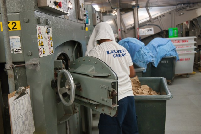"Behind the Scenes Ship Tour - ""Laundry crew"" hard at work!"