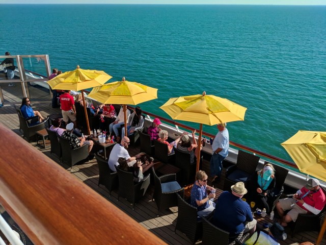 Deck 10 smoking section on the Carnival Sunshine Ship