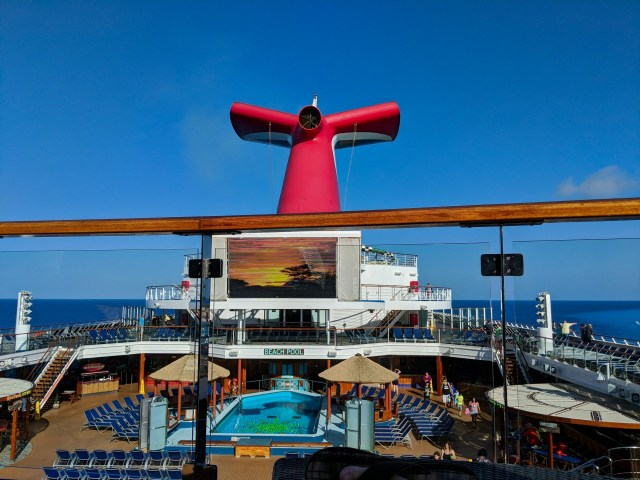 Serenity Deck View of the Carnival Sunshine Ship