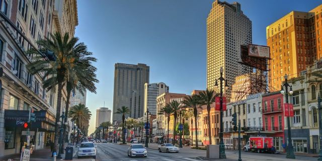 Downtown New Orleans at Sunrise by Dadtography.com