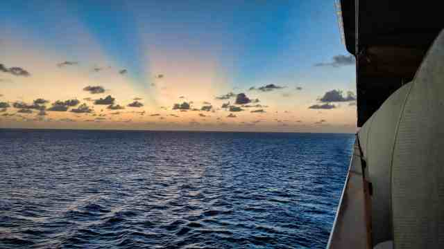Photolemur 3 Review - Before Edit - Sunset at Sea Sky on Fire