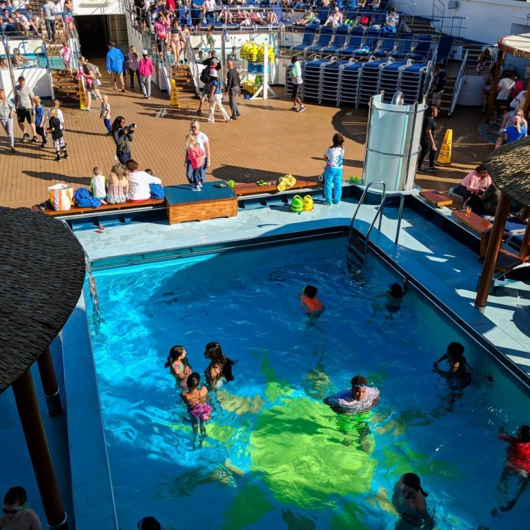 Kids in the pool on the Carnival Sunshine Ship