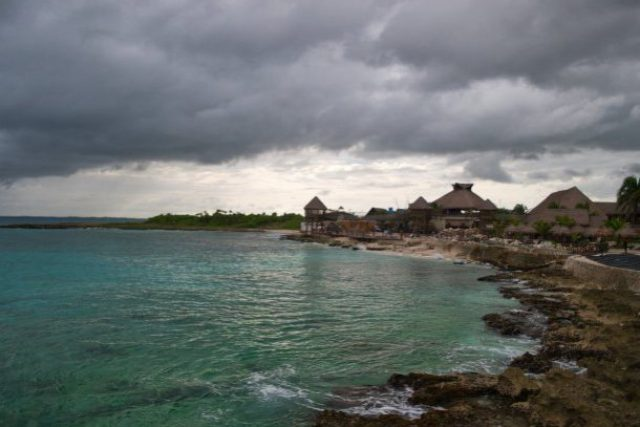 Puerto Costa Maya - A view from the pier.
