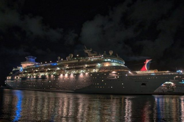 RCI Majesty of the Seas Review - Nassau Port at Night 4
