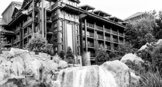 WDW Wilderness Lodge Black and White - Copyright Dadtography