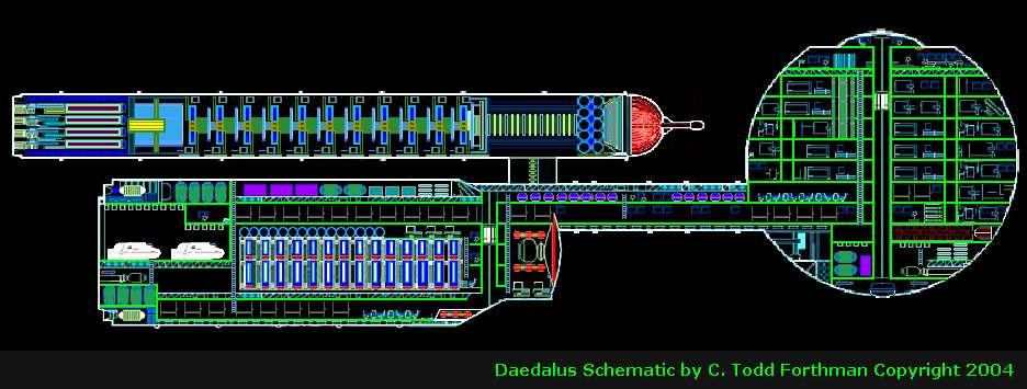 Daedalus starship interior