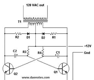 Inverter Project 12v DC to 120V AC