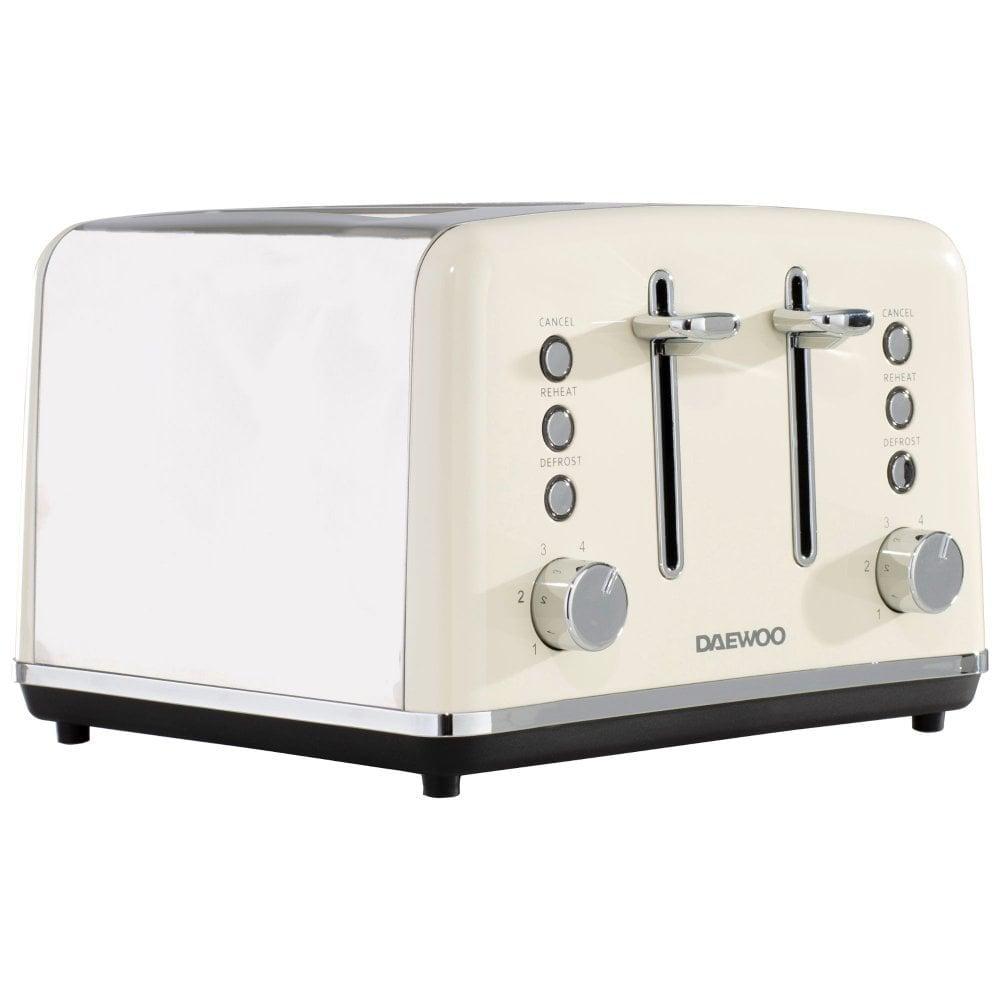 daewoo cream kensington kettle toaster microwave set