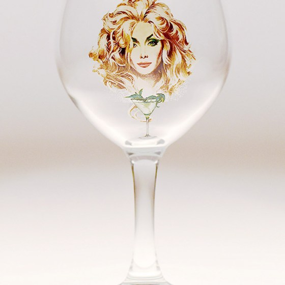 Daffy's gin Spanish goblet.