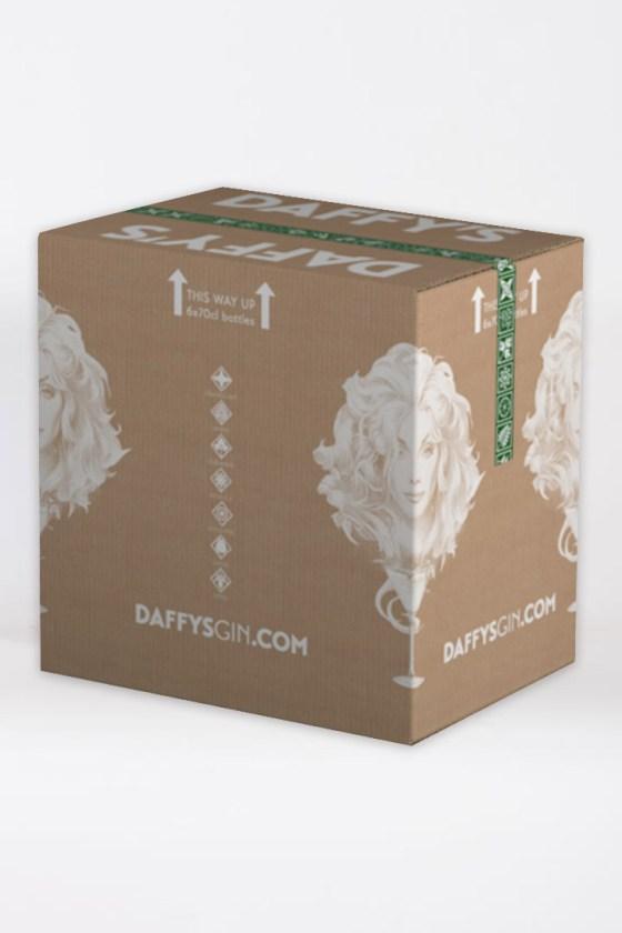 6 x 70cl Daffy's gin case.