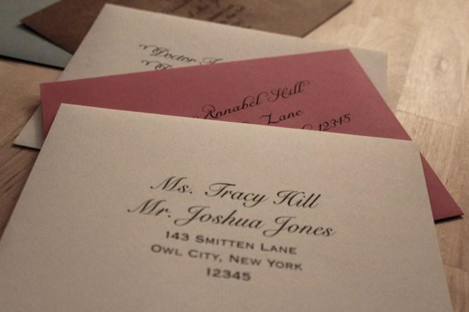 Wedding Invitation Address
