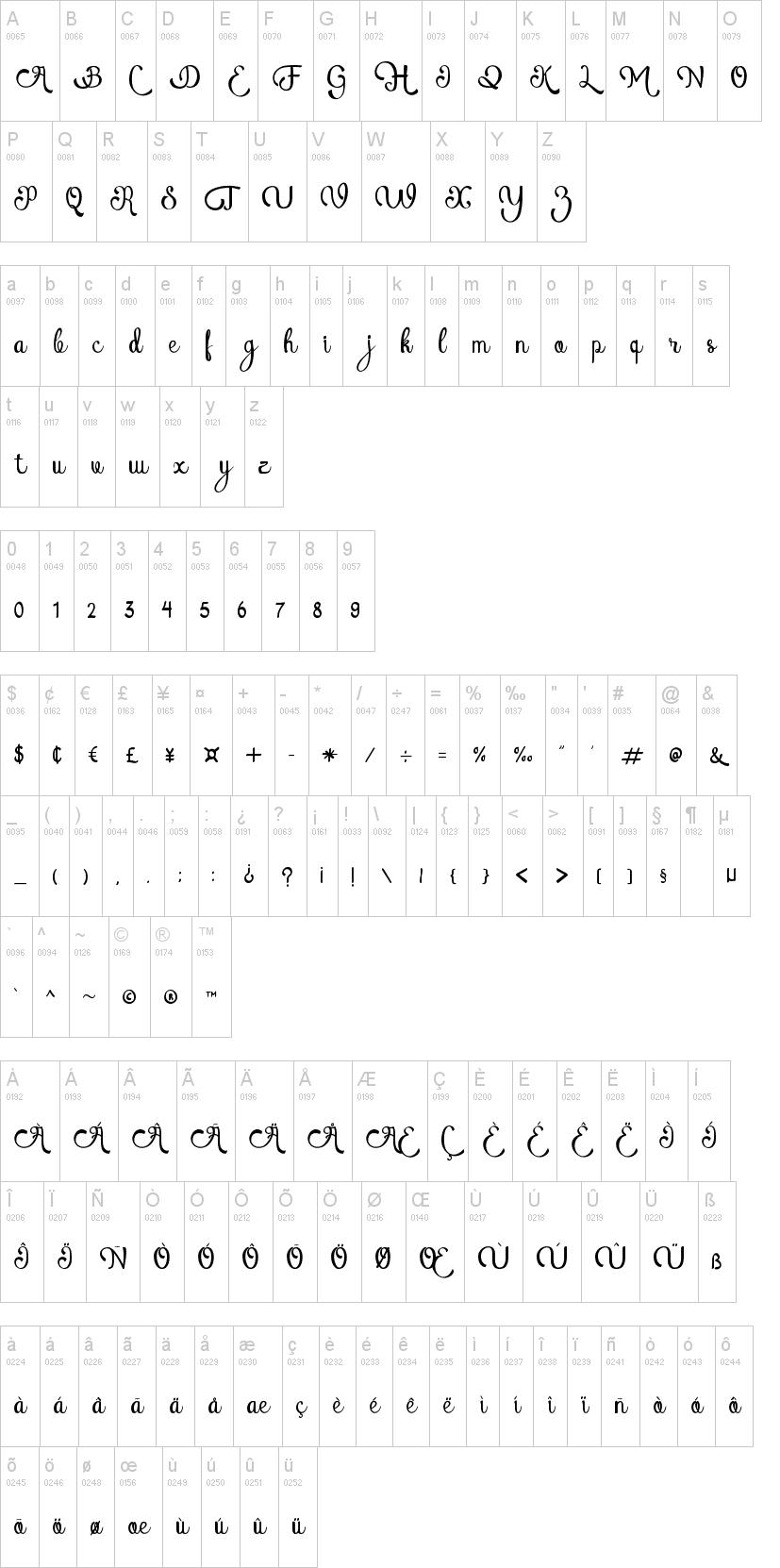 Dafont Cursive Font Heart