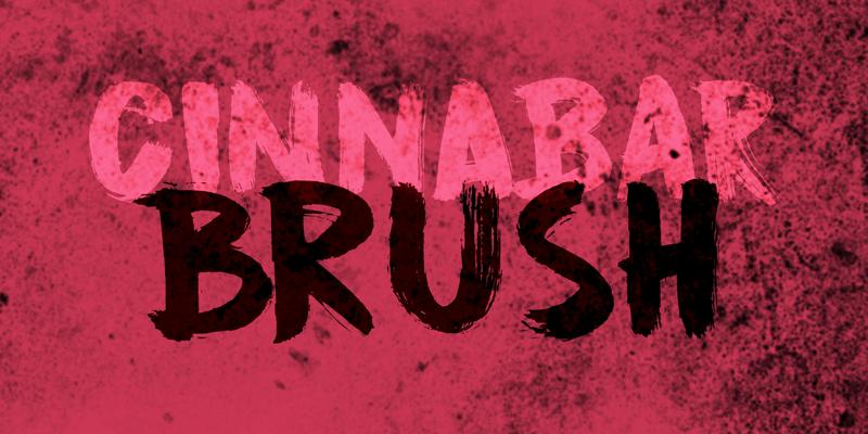 Cinnabar Brush typographie
