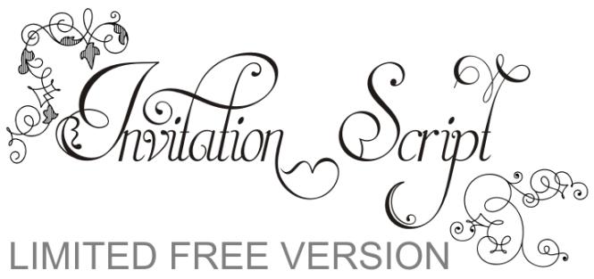 Invitation Script Font Dafont Com