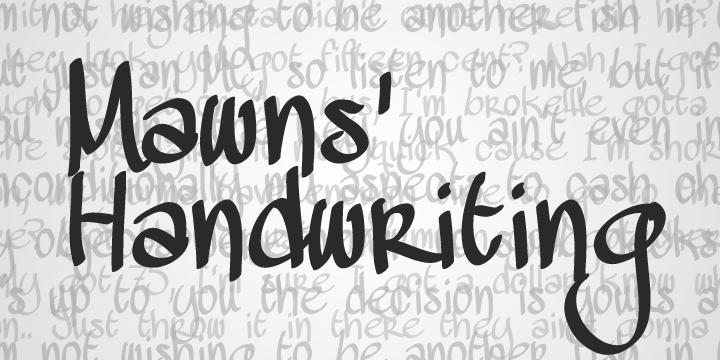 Mawns Handwriting typographie