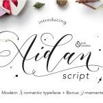 Aidan Romantic Script Font