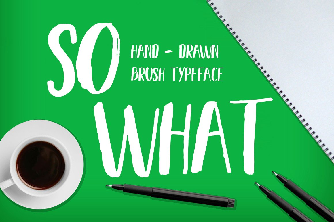 so-what-free-brush-font